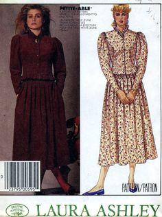 McCALL'S 3325 UNCUT VINTAGE PATTERN - SIZE 10 -  DRESS - LAURA ASHLEY #McCall #VINTAGE