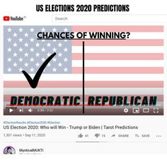 Election Results, Us Election, Tarot Prediction, Youtube Search, Who Will Win