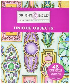 Darice 30021885 Bright & Bold Unique Objects Theme Coloring Book For Adults