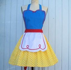 Snow White apron- I think I want to make a cinderella one