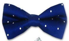 Navy bowtie with white dots