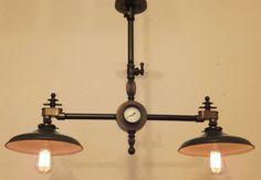 Steampunk lamp industrial light steampunk chandelier vintage machine age edison bulb antique steam punk via Etsy