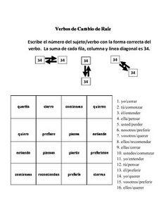 spanish stem change verbs time 12 sentences worksheet sentences and worksheets. Black Bedroom Furniture Sets. Home Design Ideas