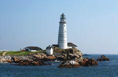 Boston Harbor Lighthouse on Little Brewster Island, Massachusetts