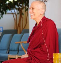 """Ven. Thubten Chodron, a woman who has been central in in re-establishing the Bhikkhuni lineage, particularly in the West, said she was filled with spiritual questions growing up.    """"Why am I here? What's my purpose?"""" she wondered."""