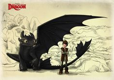 Toothless and Hiccup_FIN by ~Fenchan on deviantART
