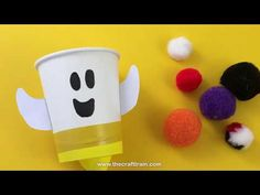 Make some cute and friendly ghost pom pom poppers as a fun Halloween craft for kids. Pom pom poppers are simple to make and are a cool DIY toy! Halloween Crafts For Kids, Easter Crafts For Kids, Toddler Crafts, Halloween Themes, Halloween Fun, Halloween Costumes, Sand Crafts, Craft Stick Crafts, Craft Ideas