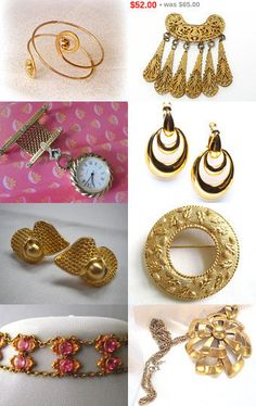 Vintage Gold From Team Love Daily Treasury by Tracy B on Etsy--Pinned+with+TreasuryPin.com