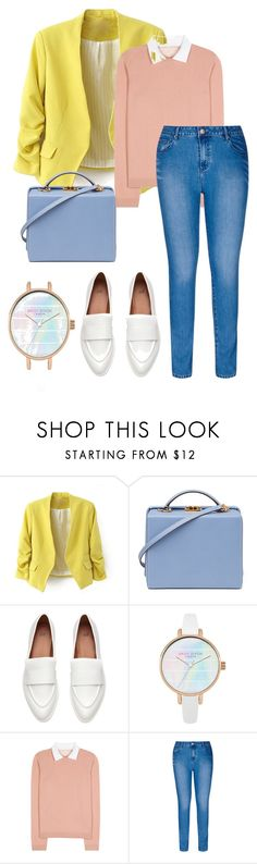 """""""lemon and pink"""" by brithany-andrade on Polyvore featuring Mark Cross, RED Valentino, City Chic and plus size clothing"""