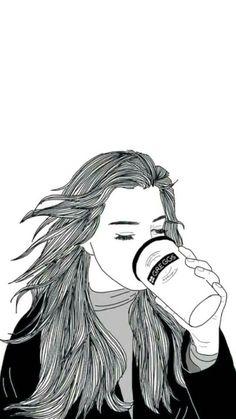 Not story but View , Picture , and Photo # Cerita pendek # amreading # books # wattpad Tumblr Girl Drawing, Tumblr Drawings, Girl Drawing Sketches, Girly Drawings, Art Drawings Sketches Simple, Outline Drawings, Girl Sketch, Tumblr Sketches, Tumblr Outline