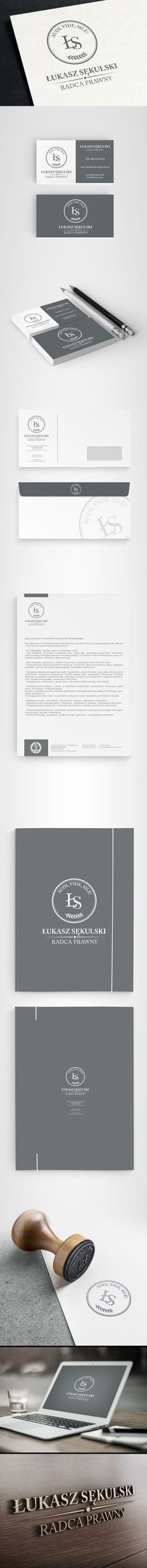 Completed brand identity for a law firm for legal advisors.