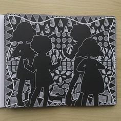 Black And White Doodle, Art Journal Pages, Zentangle, Stencils, Diy And Crafts, Doodles, Stamp, Photo And Video, Silhouettes