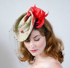Darling little 1940s tilt hat