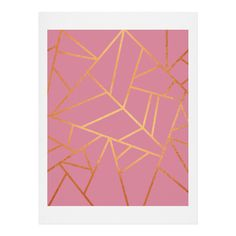Elisabeth Fredriksson Copper and Pink Art Print | DENY Designs Home Accessories