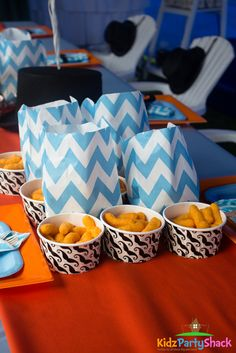 Little Man Birthday Party snacks! See more party ideas at CatchMyParty.com!
