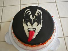 kiss birthday cakes | Red Velvet cake w/cream cheese frosting and filling. Everything else ...