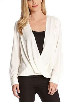 Love this Crossover Top! #Comfy #Casual #White #Draped #Crossover #Top #Fashion