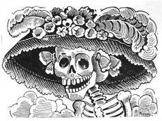 Read about La Calavera de la Catrina, an iconic Day of the Dead image by José Guadalupe Posada (Mexican, 1852–1913).