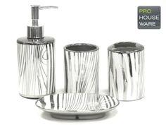 NEW-4pc-Bathroom-Accessory-Set-Soap-Dish-Dispenser-Tumbler-Toothbrush-Holder