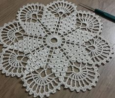 Crochet Round Cream White Doily Centerpiece Crochet Home Decor Crochet Table Decor made in Lithuania Free Crochet Doily Patterns, Crochet Motifs, Crochet Squares, Thread Crochet, Filet Crochet, Crochet Stitches, Free Pattern, Lace Doilies, Crochet Doilies