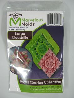 Marvelous Molds Grand Tassel Border Silicone MoldFondantGumpasteCake