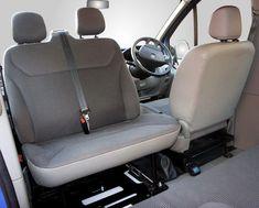 Kiravans Trafic / Vivaro Double seat swivel 2001 - 2014 (UK Right hand drive model) - Trafic/Vivaro/Primastar - Double Seat Swivels - Seating T3 Camper, Sprinter Camper, Camper Life, Sprinter Van Conversion, Camper Van Conversion Diy, Vw Conversions, Mercedes Sprinter, Vauxhall Vivaro Camper, Van 4x4