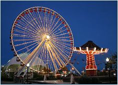 Take a 7-minute ride on Navy Pier's most visible attraction, the 150 foot-high Ferris wheel. The Ferris wheel is open year-round* and is great fun for kids of all ages! Modeled after the very first Ferris wheel, which was built for Chicago's 1893 World's Columbian Exposition, the Navy Pier Ferris wheel provides unparalleled views of the Chicago skyline and lakefront. Need to try this out day & night!