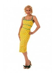 Katy Pineapple Rockabilly Dress
