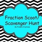 Fraction Scoot/ Scavenger Hunt is a great way to practice fractions.  You can use this game to play Scoot or Scavenger Hunt.  Either way your stude...