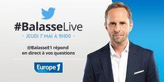 Jean-Philippe Balasse répond à vos questions sur Twitter le jeudi 7 mai
