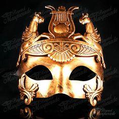 Roman Warrior Venetian Masquerade Mask for Men - Metallic Sun God Mask [Gold] Masquerade Masks For Prom, Masquerade Ball Costume, Venetian Masquerade Masks, Roman Warriors, Tribal Costume, Tribal Dance, Lace Mask, Fractal Art, Fractals