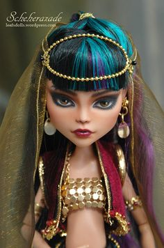 Scheherazade OOAK repainted and customized MH doll by LeafOfSteel