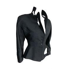 THIERRY MUGLER 1980's era Shantung silk cut out detail jacket  France
