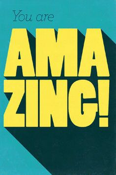 you are amazing Typography Bold Typography, Typography Letters, Typography Design, Hand Lettering, Creative Typography, Typography Quotes, Inspiration Typographie, Typographie Logo, Long Shadow