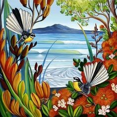 Irina Velman Irina Velman is a West Auckland artist whose paintings can be found in private collections throughout the world. Known for her distinctive style and vibrant colours, Irina's inspiration comes from the dramatic beauty of New Zealand. Thai Tattoo, Maori Tattoos, Tribal Tattoos, Irezumi Tattoos, Canvas Art Prints, Framed Prints, Irina S, Zealand Tattoo, School Murals