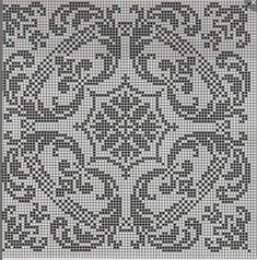 Filet Crochet Charts, Crochet Cross, Crochet Motif, Crochet Doilies, Biscornu Cross Stitch, Cross Stitch Embroidery, Embroidery Patterns, Cross Stitch Designs, Cross Stitch Patterns