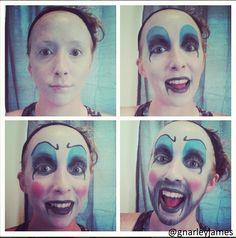 Captain Spaulding #facepaint #bodyart #makeupbymarley #thedevilsrejects #houseof1000corpses #sidhaig