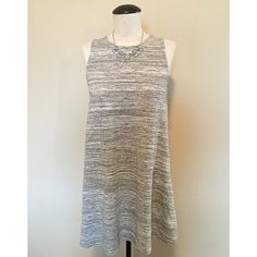 Sleeveless Tunic/Mini Dress (Light Gray) sz S Sleeveless Tunic/Mini Dress (Light Gray) sz S▪️It's in between a tunic and short mini dress length. It depends on your height and torso length, I wore it as both. I purchased for a vacation, only worn a handful of times. The necklace is NOT included, sold separately.                  NO TRADES NO PAYPAL Dresses Mini