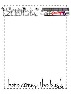 "Here comes the bus! - Project Life Disney Journal Card - Scrapbooking. ~~~~~~~~~ Size: 3x4"" @ 300 dpi. This card is **Personal use only - NOT for sale/resale** Logos/clipart belong to Disney. Little stick people are from www.clker.com and www.openclipart.org . Font is Jenna Sue http://www.dafont.com/jenna-sue.font ***Click through to photobucket for more versions of this card***"