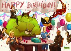 The Avengers celebrate Nick Fury's birthday.