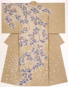 such a lovely design. Japanese Textiles, Japanese Patterns, Japanese Design, Traditional Kimono, Traditional Outfits, Japanese Outfits, Japanese Clothing, Kimono Design, Wedding Kimono