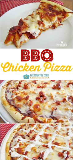 BBQ Chicken Pizza BBQ Chicken Pizza is a family favorite that whips up quickly. We love to drizzle it with a little ranch dressing. So good! - BBQ Chicken Pizza recipe from The Country Cook Bbq Chicken Pizza, Chicken Pizza Recipes, Bbq Pizza Recipe, Chipotle Chicken, Chicken Dips, Recipe Chicken, Perfect Pizza, Good Pizza, Pizza On The Bbq