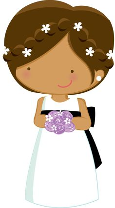 Dibujos. Clipart. Digi stamp - Bridesmaid - Minus