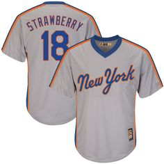 Darryl Strawberry New York Mets Majestic Big & Tall Cooperstown Collection Cool Base Replica Player Jersey - Gray - $119.99