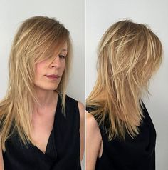 Style and not the colour. Medium layered haircut for fine hair