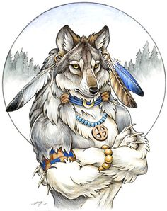 SciFi and Fantasy Art Dire Wolf Were by Diana Cervantes Furry Wolf, Furry Art, Wolf Spirit, Spirit Animal, Fantasy Creatures, Mythical Creatures, Fantasy Kunst, Fantasy Art, Werewolf Art