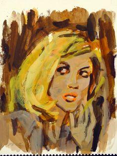 Walter Robinson, Untitled (Frightened Blonde)