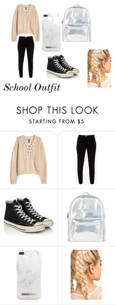 """""""School"""" by ohmygshsomeoneactually on Polyvore featuring H&M, Ted Baker, Converse and Accessorize"""