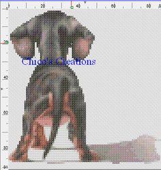 Doxie Dachshund Butt Cross Stitch Pattern