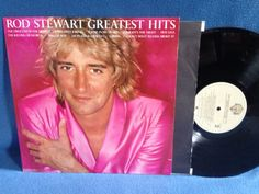 Vintage Rod Stewart  Greatest Hits Vinyl LP by sweetleafvinyl